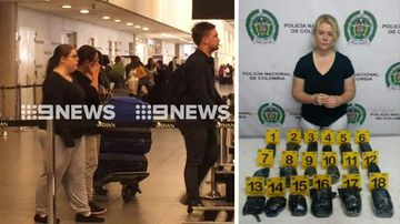 Accused Aussie drug mule's family arrives in Colombia