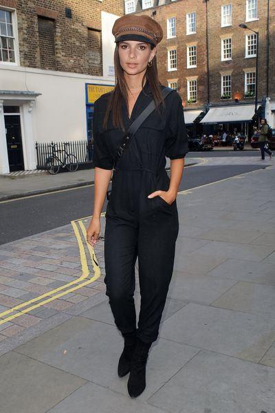 Model and actress Emily Ratajkowski  in London.