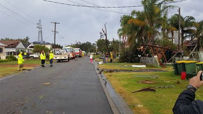 Roofs have been ripped off houses in Kurnell and streets littered with debris. (Supplied)