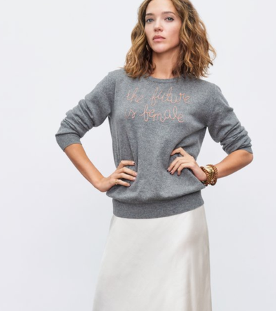 "<a href=""https://linguafranca.nyc/collections/the-resistance-series/products/the-future-is-female-grey"" target=""_blank"" draggable=""false"">Lingua Franca The Future is Female sweatshirt, $48</a><a href=""https://linguafranca.nyc/collections/the-resistance-series/products/the-future-is-female-grey"" target=""_blank"" draggable=""false"">5.70</a>"