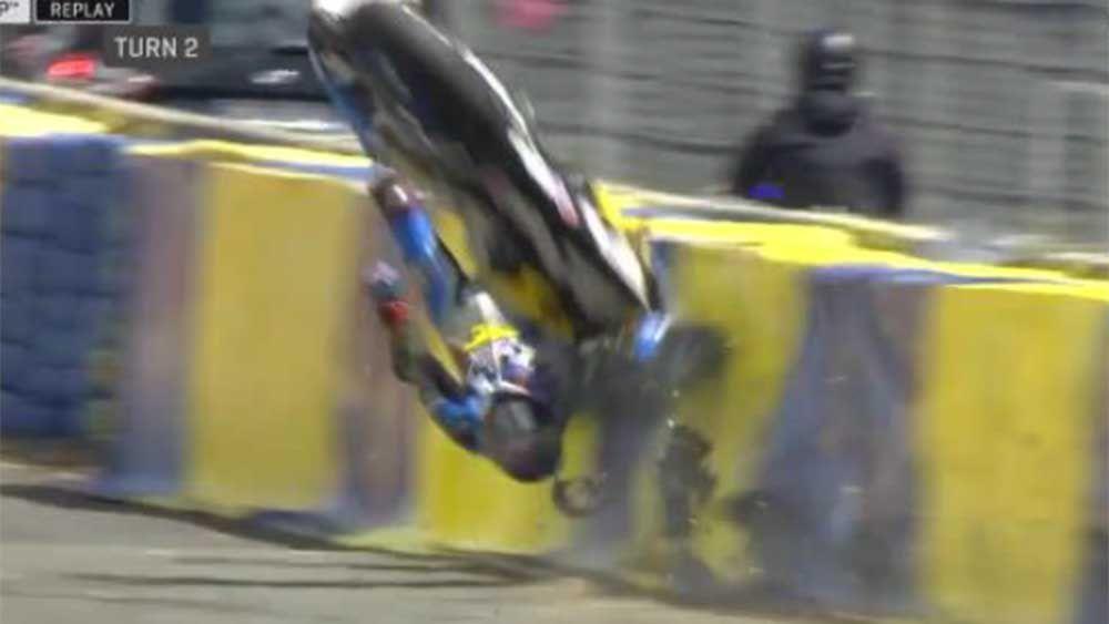 MotoGP: Jack Miller survives terrifying crash at Le Mans