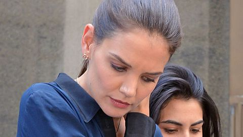Cops called as gunmen stake out Katie Holmes' new home
