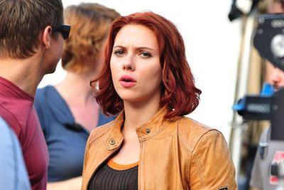 "Scarlett Johansson's phone was hacked in March, and by September, two pics featuring the actress in the buff had surfaced online. Instead of hiding behind her rep and denying the whole thing (<i>ahem</i>, Blake), ScarJo told <i>Vanity Fair</i> that the snaps were meant for her then-husband Ryan Reynolds. ""I know my best angles,"" she joked. ""[The naked pictures] were sent to my husband. There's nothing wrong with that. It's not like I was shooting a porno. Although there's nothing wrong with that either."""