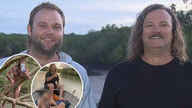 Aussie blokes discover naked fugitive while out fishing