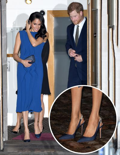 """<p>When <a href=""""https://style.nine.com.au/2018/09/06/15/22/style-fashion-vanity-fair-best-dressed-list-meghan-markle"""" target=""""_blank"""" title=""""Meghan Markle"""" draggable=""""false"""">Meghan Markle</a> arrived on the Royal scene,thanks to her budding romance with Prince Harry in 2016, it was her cool aesthetic and effortless <a href=""""https://style.nine.com.au/2018/09/05/13/20/style-fashion-royals-princess-diana-meghan-markle"""" target=""""_blank"""" title=""""approach to fashion"""" draggable=""""false"""">approach to fashion</a> thatset tongues wagging amongst the style set.<br /> <br /> Now, since her new role as the Duchess of Sussex, Markle has proved that an official title hasn't changed her modern take on <a href=""""https://style.nine.com.au/2018/08/13/11/40/style-fashion-royals-meghan-markle-belts"""" target=""""_blank"""" title=""""royal dressing"""" draggable=""""false"""">royal dressing</a>.</p> <p>With a very dapper Prince Harry by her side, Markle stepped out overnight for the 100 Days to Peace gala, marking the centenary of the end of the First World War.</p> <p>Markle lifted the style stakes yet again, arriving in a royal blue sleeveless midi dress by Jason Wu. This time however, it was the 37 year-old's accessories that were the real show-stoppers. </p> <p>The <em>Suits</em> star paired the frock with stunning blue satin pointed-slingbacks with jewel embellishments that look like something from the pages of a bridal magazine. The swoon-worthy heels are from her favourite go-to shoe designer, Aquazzura, the shoe style becoming somewhat of a signature look for Markle, rarely seen without pointed stiletto heels. The former actress complimented her look with a midnight blue clutch from Dior.<br /> <br /> Markle has honed her style to polished perfection with the help of designers such as Clare Waight Keller, Stella McCartney and Roland Mouret.<br /> <br /> Click through to see Meghan Markle's most standout looks since becoming a Duchess - all looks complete with her signature heels.</p>"""
