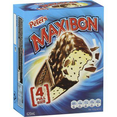 Maxibon Vanilla: 27.5g sugar — almost 7 teaspoons