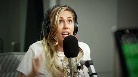 Miley Cyrus and Zane Lowe