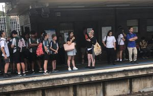 Major delays on Sydney train lines after object becomes stuck in overhead wiring