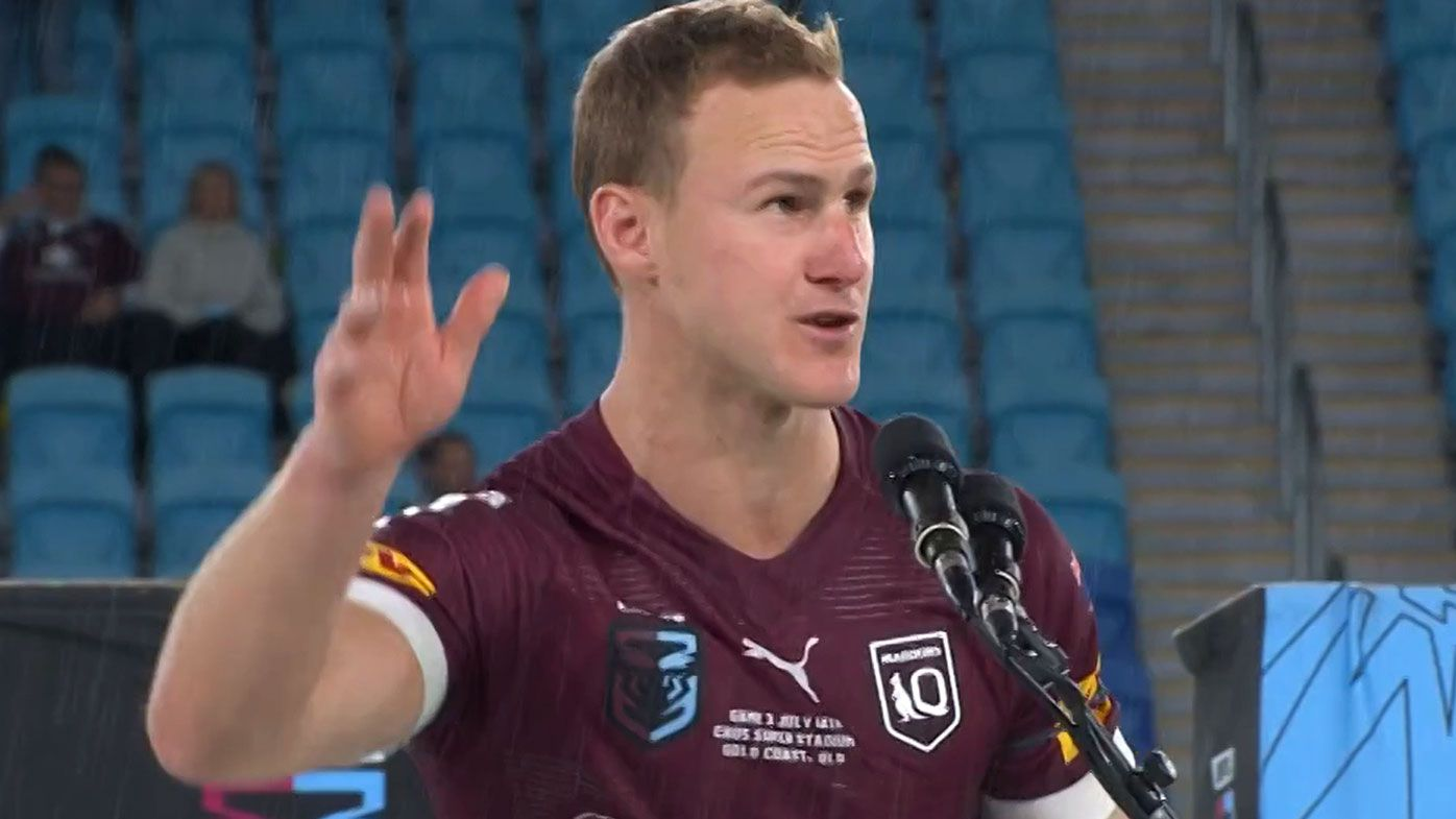 Daly Cherry-Evans was booed during his speech after the 2021 State of Origin series.