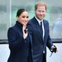 Harry and Meghan arrive in New York