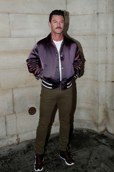 Actor Luke Evans attends the Louis Vuitton show as part of the Paris Fashion Week