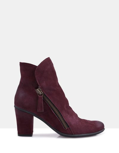 "Yountville Bordeaux Suede Boots, $189 at <a href=""http://www.theiconic.com.au/yountville-bordeaux-suede-boots-208851.html"" target=""_blank"">The Iconic</a><br>"
