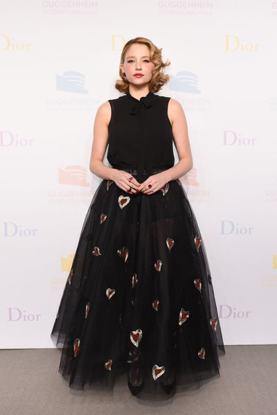 Haley Bennett at the Guggenheim International Gala supported by Dior on November 17, 2016.