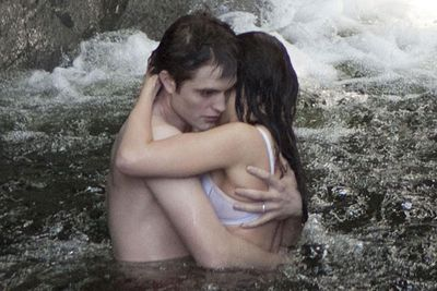 In bed, in a waterfall and on a boat &#151; they'll pretty much do it anywhere, these two. Here are some of the highlights from <b><a href=/movie/41077/the-twilight-saga-breaking-dawn--part-1><i>The Twilight Saga: Breaking Dawn &#151; Part 1</i></a></b>, featuring the movie wedding, honeymoon and pregnancy of the year. Happy Breaking Dawn everyone!<br/><br/><b><a href=/movie/41077/the-twilight-saga-breaking-dawn--part-1>*Click here to search session times and read our review of <i>Breaking Dawn</i></a></b>