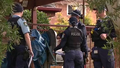 Police at a home in Castle Hill this morning where a man allegedly stabbed his wife.