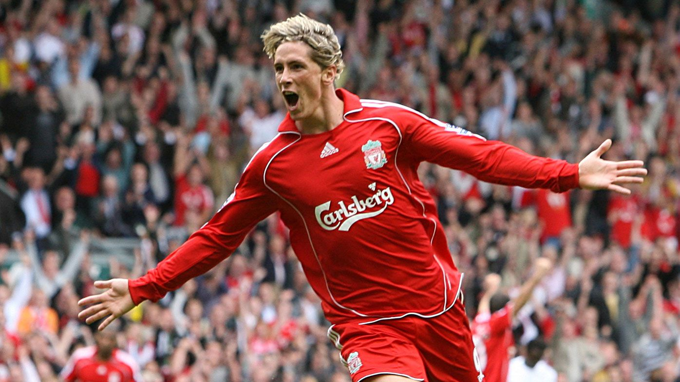 Torres during his time at Liverpool