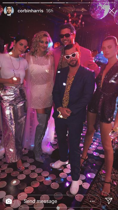 Karl and Jasmine's Studio 54-themed party