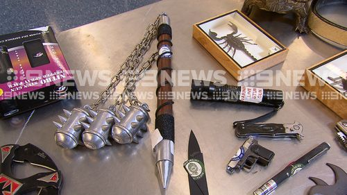 Border Force officers have warned schoolies not to bring illegal weapons back into the country.