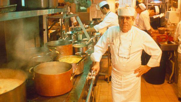 Albert Roux, pictured in the kitchen of Le Gavroche in 1989, was the chef who revolutionized London's restaurant scene.