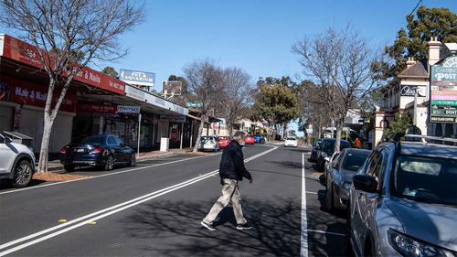 Empty streets in Campbelltown as the region enters a stricter lockdown.