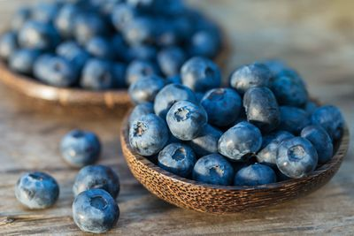 For a handful of blueberries (57 calories/100g)