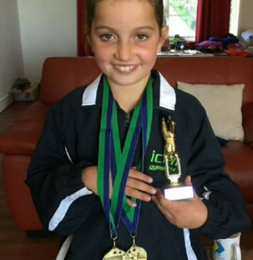 Kate, who loves gymnastics, was treated at the scene by paramedics and was put into an induced coma before being airlifted to The Children's Hospital at Westmead.