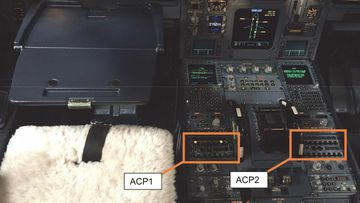 Hot coffee melted a button on a A33-243 control panel, forcing the plane to land.
