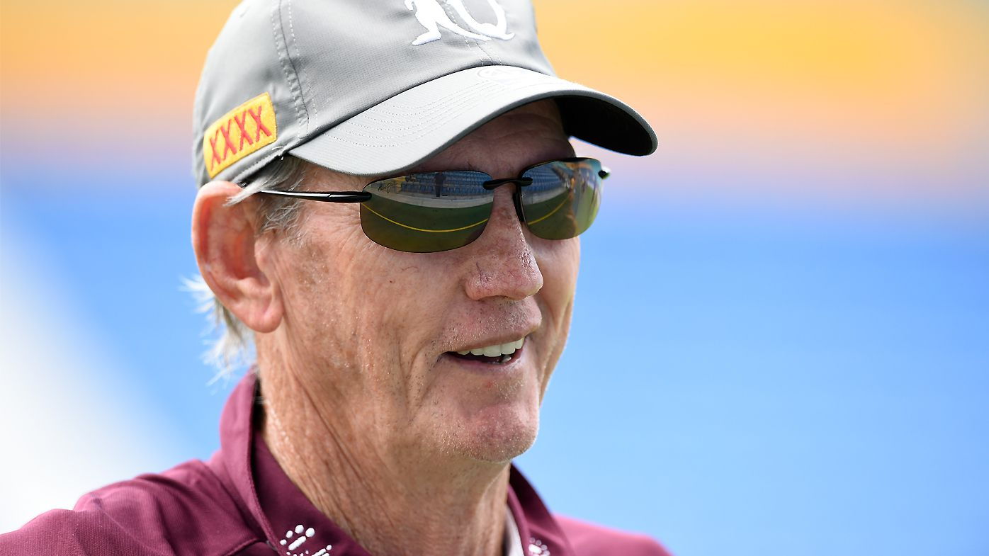 Wayne Bennett during a Queensland Maroons training session