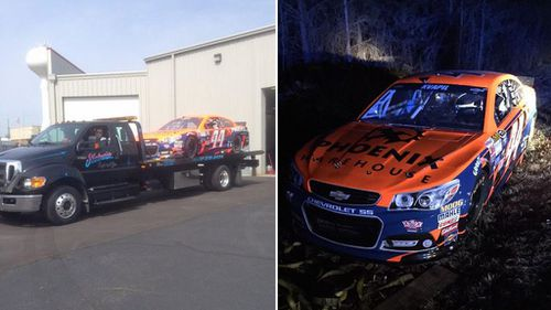 Stolen $320k professional race car found on rural US roadside