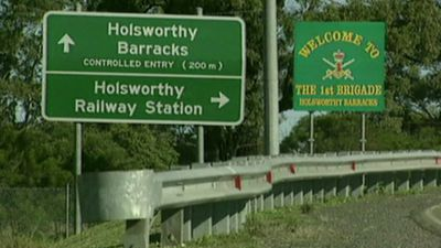 ON GUARD: Holsworthy Barracks is home to a large contingent of Australia's special forces personnel, including 2 Commando. (9NEWS)