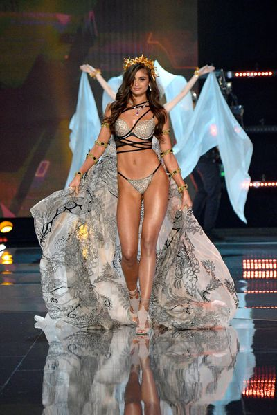 """<p>It's mistakenly called the fashion Olympics but the <a href=""""https://style.nine.com.au/2016/12/01/07/46/victorias-secret-2016-paris-gigi-bella-adriana-kendall"""" target=""""_blank"""">Victoria's Secret</a> runway show is more of a model marathon, showcasing the women who make striding in sequinned underwear million dollar businesses.</p> <p>Even with Balmain designer Olivier Rousteing enlisted to design the wings for Jasmine Tookes, the gaudy concoctions worn by Adriana Lima, Allesandra Ambrosio, Sara Sampaio, Martha Hunt, Georgia Fowler and Australian newcomer Victoria Lee have more to do with pin-up fantasies than style.</p> <p>With Chinese visa troubles preventing Katy Perry and Gigi Hadid from entering the country former One Direction singer Harry Styles and models who have not wished the Dalai Lama a happy birthday were left to provide the fireworks that add glamour and glitz to the eagerly-anticipated annual event.</p> <p>See the many lingerie looks from the world's top models in China.</p>"""