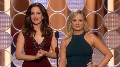 Tiny Fey and Amy Poehler had the celebrity-packed crowd in stitches.