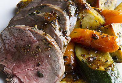 Sage roast lamb and vegetables