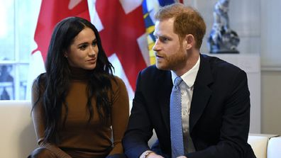 The Duke and Duchess of Sussex visit Canada House in London on January 7, 2020.
