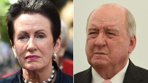 Alan Jones has been criticised for a tweet which appears to suggest people would like to see Clover Moore hung above Sydney. (AAP)