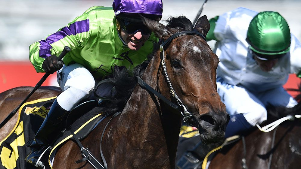 Global Glanour gave Gai Waterhouse another Group One win. (AAP)