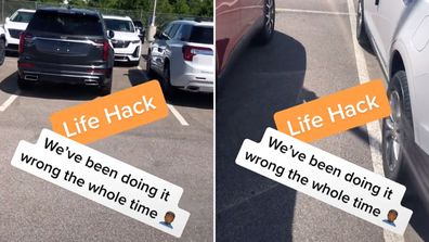 Man's solution to parking spaces divides the Internet: 'People can't park'