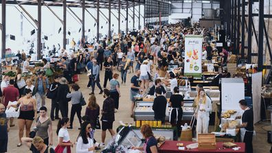 Carriageworks Markets in Eveleigh.