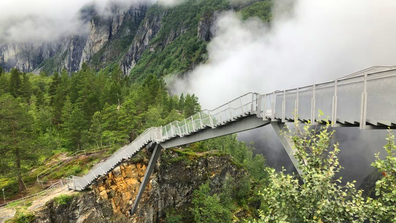 Architect Carl-Viggo Hølmebakk's step bridge in Norway
