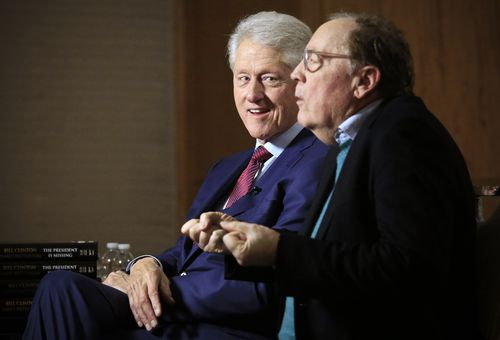 Mr Clinton and author James Patterson have been on a national tour selling their book. Picture: AAP