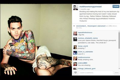 Like a bit of ink on your man? Matthew flaunts it. <br/><br/>#tattooguy