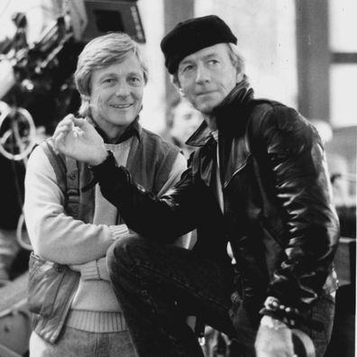 Paul Hogan (right) is star/executive producer/screen writer and John Cornell is producer/director of the Paramount adventure-comedy ÒAlmost An Angel.Ó December 23, 1990.