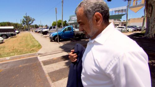 The former chiropractor refused to answer questions as he walked out of Caboolture court.