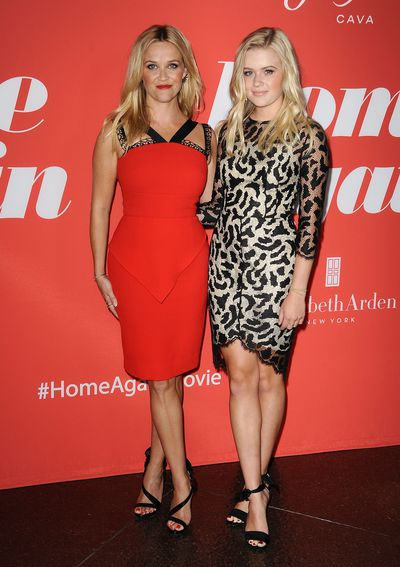 Ava Phillippe and Reese Witherspoon at the premiere of <em>Home Again</em> in Los Angeles, August, 2017