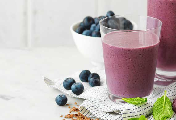 Blueberry and grape superfood smoothie