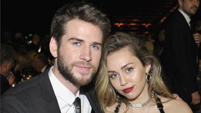 Liam Hemsworth, Miley Cyrus, event, hugging, gala