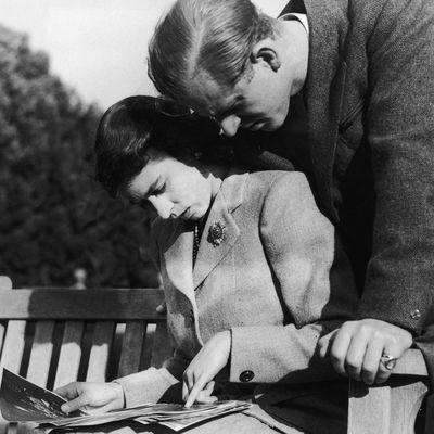 Queen Elizabeth and Prince Philip on honeymoon