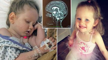 Girl with rare tumour running out of treatment money