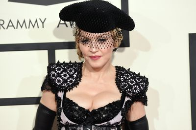Madonna at the 57th Annual Grammy Awards at the Staples Centre in Los Angeles on February 8, 2015