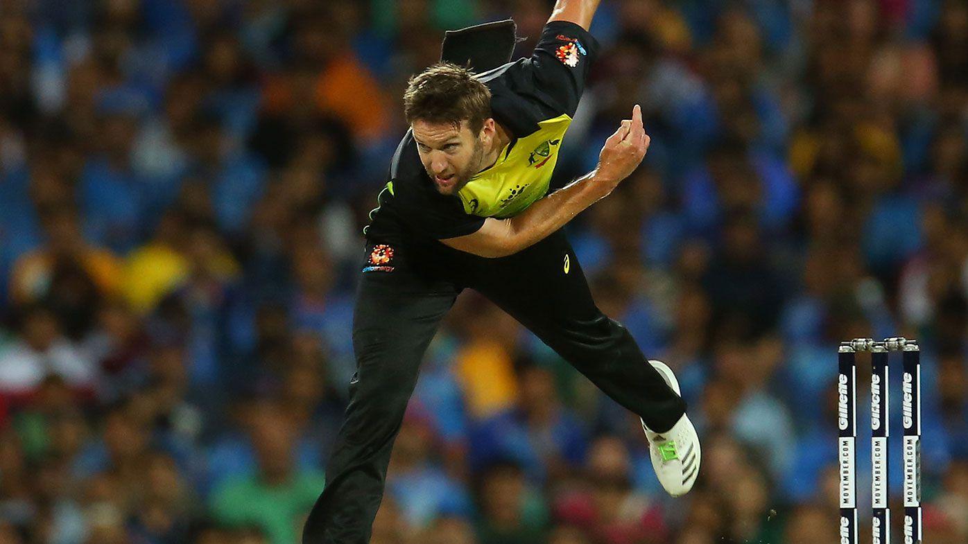 Andrew Tye in action for Australia.